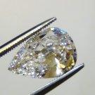 PEAR CUT RUSSIAN LAB DIAMOND 6 X 4 MM