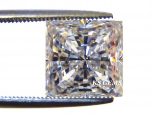 PRINCESS CUT RUSSIAN LAB DIAMOND SIM 5.0 X 5.0 MM