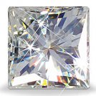 PRINCESS CUT RUSSIAN LAB DIAMOND SIM 4 X 4 MM