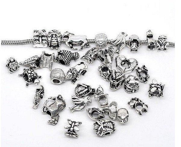 Animal silverlook charms x 100