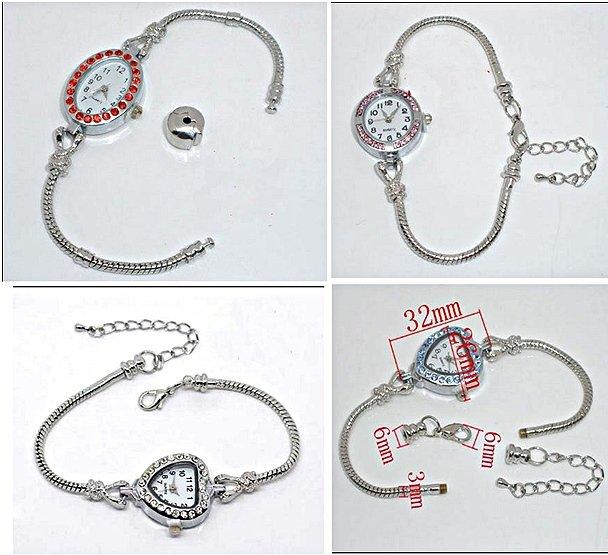 Charm bead ladies watches