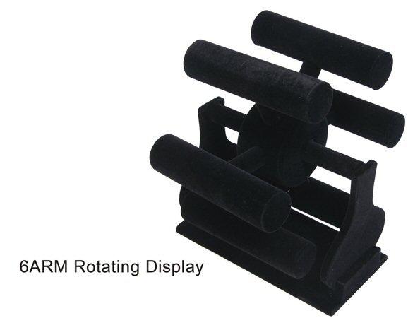 Rotating arm bracelet display