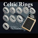 Celtic rings x 72 with display