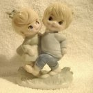 Vintage Giftcraft Children Figurine Marked Japan