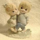 Vintage Giftcraft Children Figurine Marked Japan