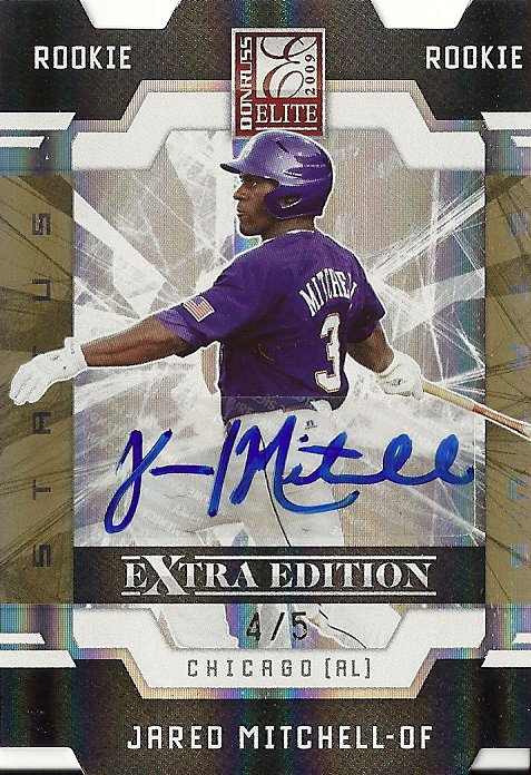 2009 ELITE EXTRA JARED MITCHELL GOLD STATUS AUTO RC /5