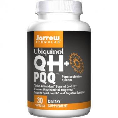 Jarrow Formulas Ubiquinol Plus Pyrroloquinoline Quinone Supplement, 30 Count
