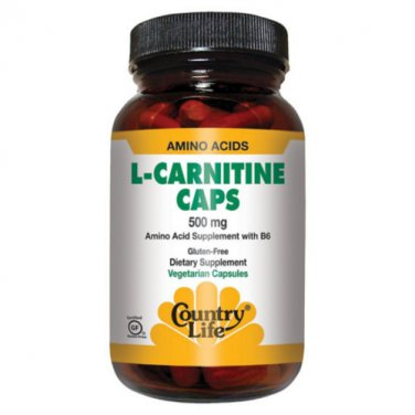 Country Life L-Carnitine Caps 500mg 60 caps LOWEST PRICE Free Shipping