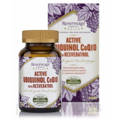 Active ubiquinol coq10 with resveratrol