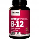 Jarrow Methyl B-12 5000 mcg (60 Lozenges, Pack of 2)