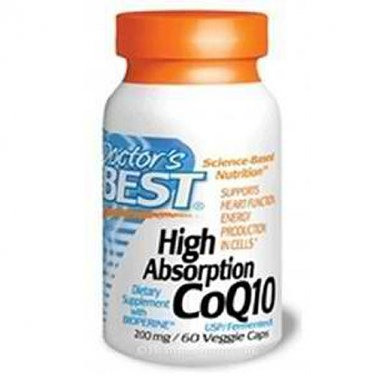 Doctor's Best, CoQ10 with Bioperine, 200 mg, 60 Veggie Caps (TWIN PACK)