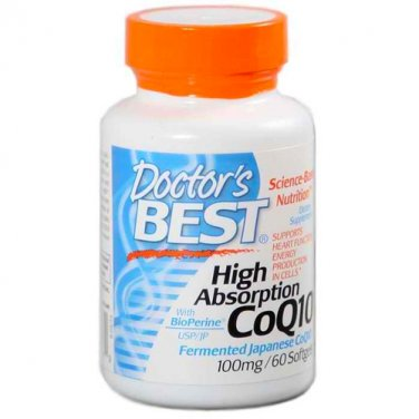 High Absorption Coq10 W/ Bioperine Veggie Caps, 100mg 60 Count (Pack of 3)