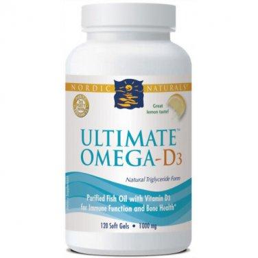 Nordic Naturals Ultimate Omega D3 1000 mg 120 Count