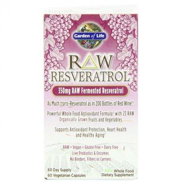 Garden of Life RAW Resveratrol, 60 Capsules