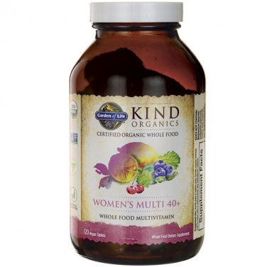 Garden of Life mykind Organics Women's Multi 40+, 60 Organic Tablet