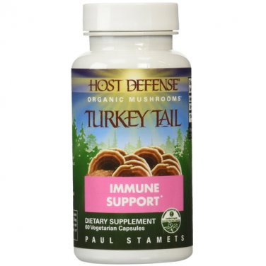 Host Defense Organic Mushrooms - Host Defense Turkey Tail Mushrooms, 60 veggie caps