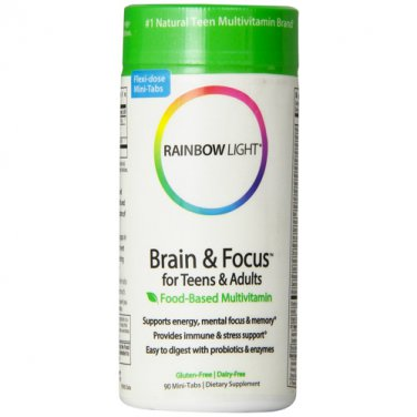 Rainbow Light Brain and Focus Multivitamin, 90 Tablets