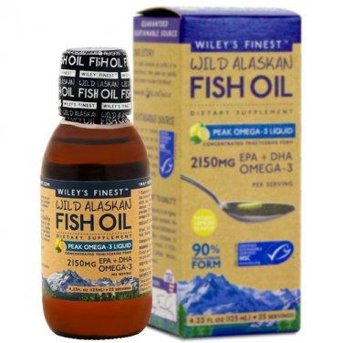 Wileys Finest - Wild Alaskan Fish Oil Peak Omega 3 Lemon, 2150 mg, 4.23 fl oz liquid