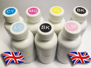 Sublimation Ink, 6 Colors for all Epson printers (choose 100ml from all 6 colours)