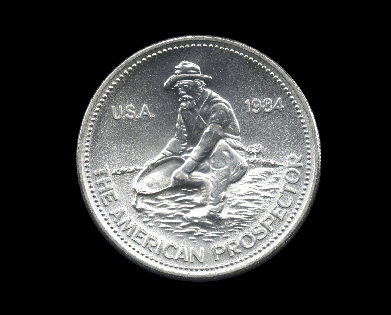 Engelhard Prospector Silver Bullion Coin, 1 Troy Ounce, 999 Fine