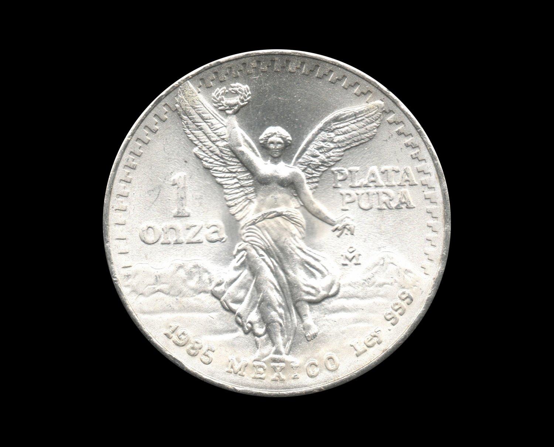 1985 Mexican Libertad Silver Bullion Coin 1 Troy Ounce