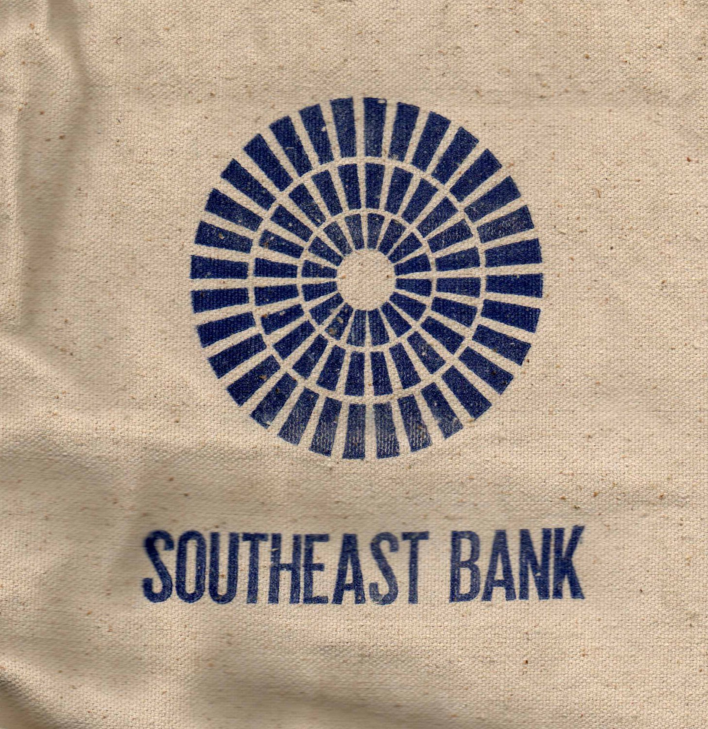 Vintage Heavy Duty Canvas Bank Bag from a Seized South Florida S&L