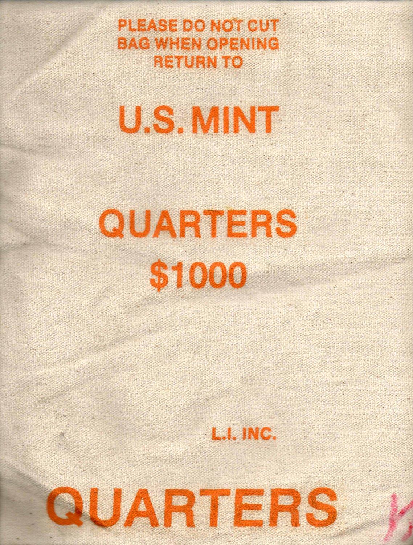 Heavy Duty US MInt Canvas Bank Bag