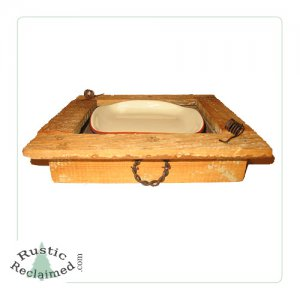 Reclaimed Barnwood Primitive Rustic Bath Countertop Holder w/ Soap Dish