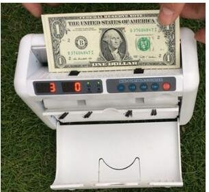 Charge detector money counter dollar multinational currency the euro banknote detector