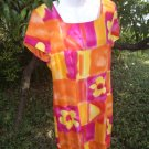 Vintage Floral Dress with Padded Sleeves 80s