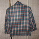 Boy's Plaid Sports Jacket Turquroise