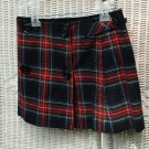 Wool Tartan  Skirt (Red and Black)