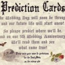 Wedding Halloween Gothic Graveyard Prediction Cards