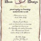 Hearts Love Valentines Wedding Scroll Invitations