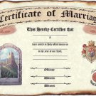 Wedding Favors Keepsake Certificate Renaissance Castle