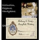 FairyTale princess Wedding party Favors Place Cards