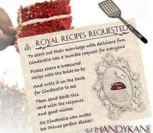 Cinderella Fairy Tale Wedding Favors Recipe Cards