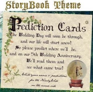 Wedding Favors Storybook Fairytale Prediction Cards
