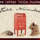 Love Letter Theme Wedding Favors Table Number Cards