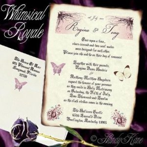 Wedding Scroll Invitations Whimsical Royal Fairy Pkg