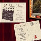Hollywood Movie Wedding Party Save The Date Post Cards