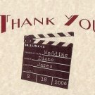 Hollywood Movie Wedding Party Thank You Cards