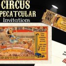 Circus Birthday Invitations Mini Tickets & Response