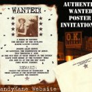 Western Wedding Invitations Wanted Scrolls Poster