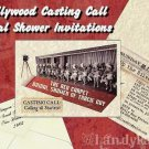 Hollywood Movie Theme Bridal Shower Invitations