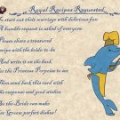Dolphin Wedding Bridal Shower Favors Recipe Cards