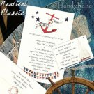 NAUTICAL Anchor Sailing Ocean Wedding Invitations +