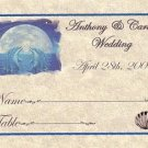 Dolphin Moon a Wedding Favors Seating Place Cards