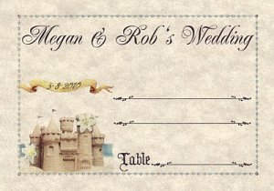 Sandcastle Beach Wedding Favors Seating Place Cards