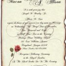 Scroll Wedding Invitations Love Letter b & Response